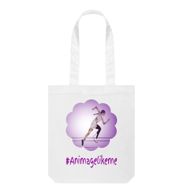 Diversity Designs Blade Girl in Shorts Running Tote Bag