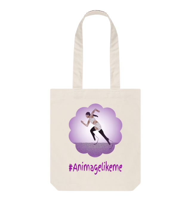 Diversity Designs with Girl Running with Blades Tote Bag