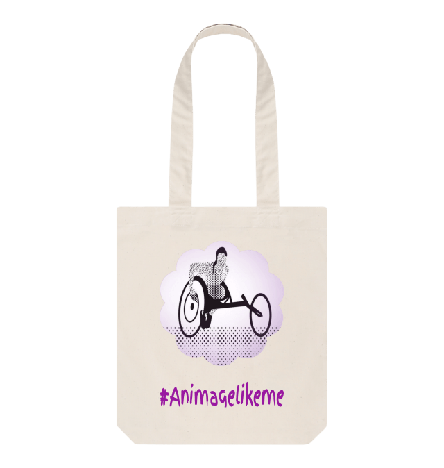 Diversity Designs Girl Wheelchair Athlete Tote Bag
