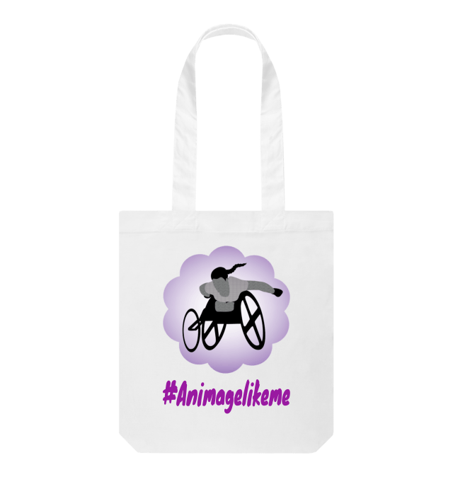 Diversity Designs Wheelchair Racer with Plait Tote Bag