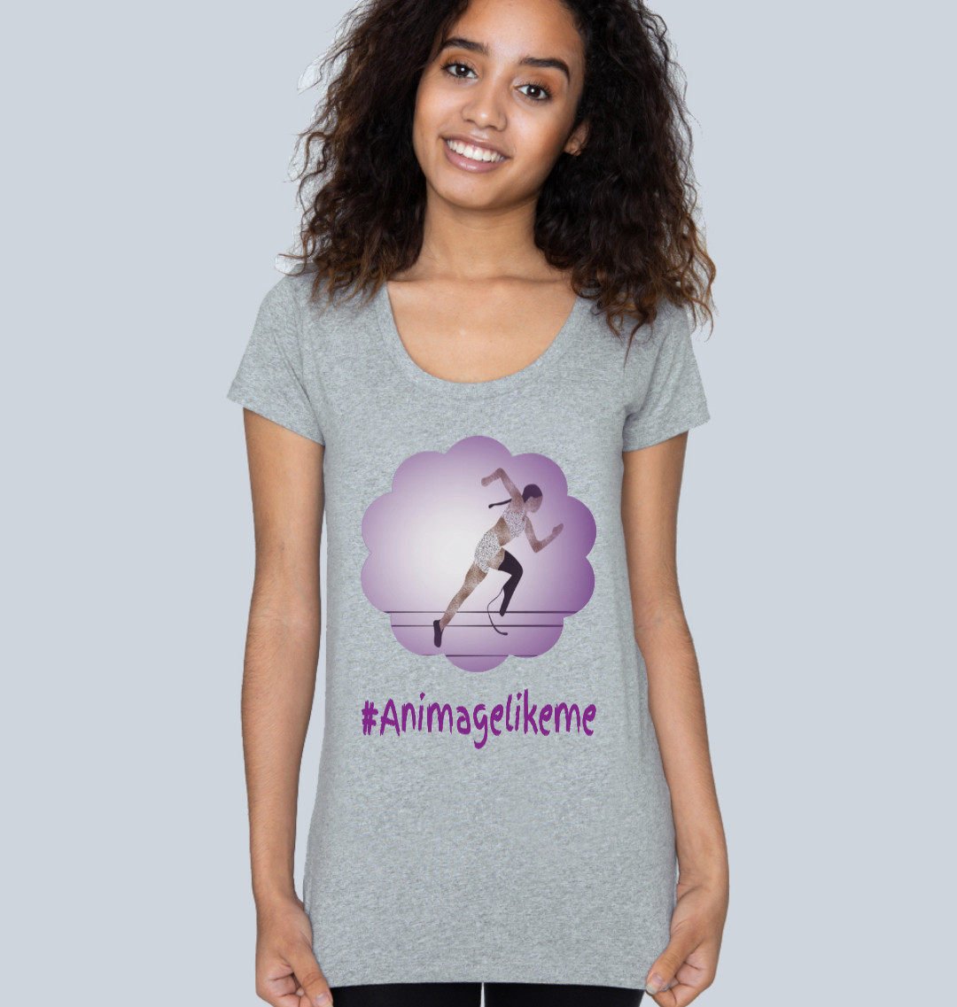 Diversity Designs Blade Girl in Shorts Running T-Shirt