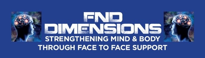 FND Dimensions Logo comprising the words FND Dimensions strengthening mind and body through face to face support