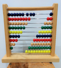 image shows a child's abacus.
